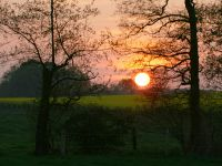 Sonnenuntergang  im April